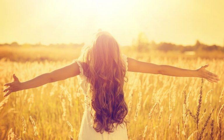 Girl in Spanish sun vitamin D